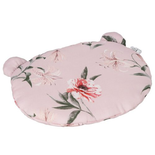 PODUSZKA BAMBUSOWA Z USZAMI - BAMBOO PILLOW WITH EARS RED FLOWERS YOSOY