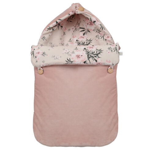 ŚPIWOREK DO FOTELIKA SAMOCHODOWEGO - CAR SEAT SLEEPING BAG FLOWERS ON THE BEIGE YOSOY