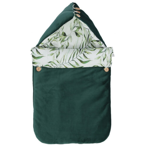 ŚPIWOREK DO FOTELIKA SAMOCHODOWEGO - CAR SEAT SLEEPING BAG EXOTIC LEAVES YOSOY