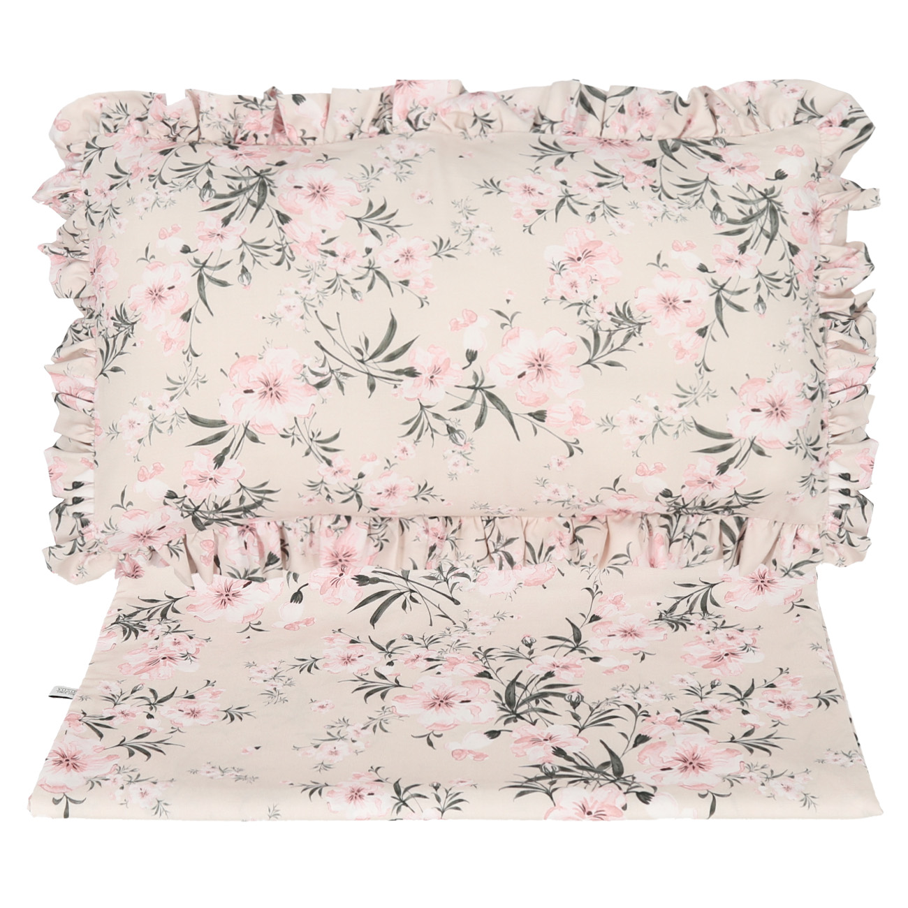 KOMPLET POSZEWEK NA POŚCIEL - SET OF BEDDING COVERS FLOWERS ON THE BEIGE YOSOY